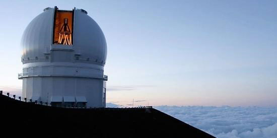 The Canada-France-Hawaii Telescope at dusk (courtesy: CFHT)