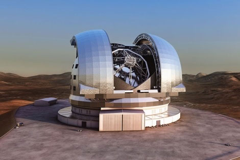 CAD model of ESO's Extremely Large Telescope